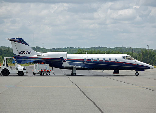Bombardier Learjet 60 aircraft at Concord, NC Regional Airport. Photo © James Willamor. Licensed under CC BY-SA 2.0.