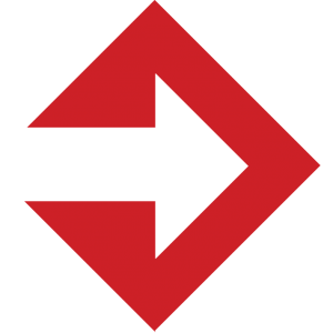 itre red arrow logo without text