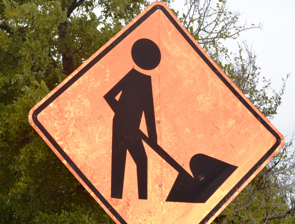 Work-Zone-Sign-Indicating-Workers-Present