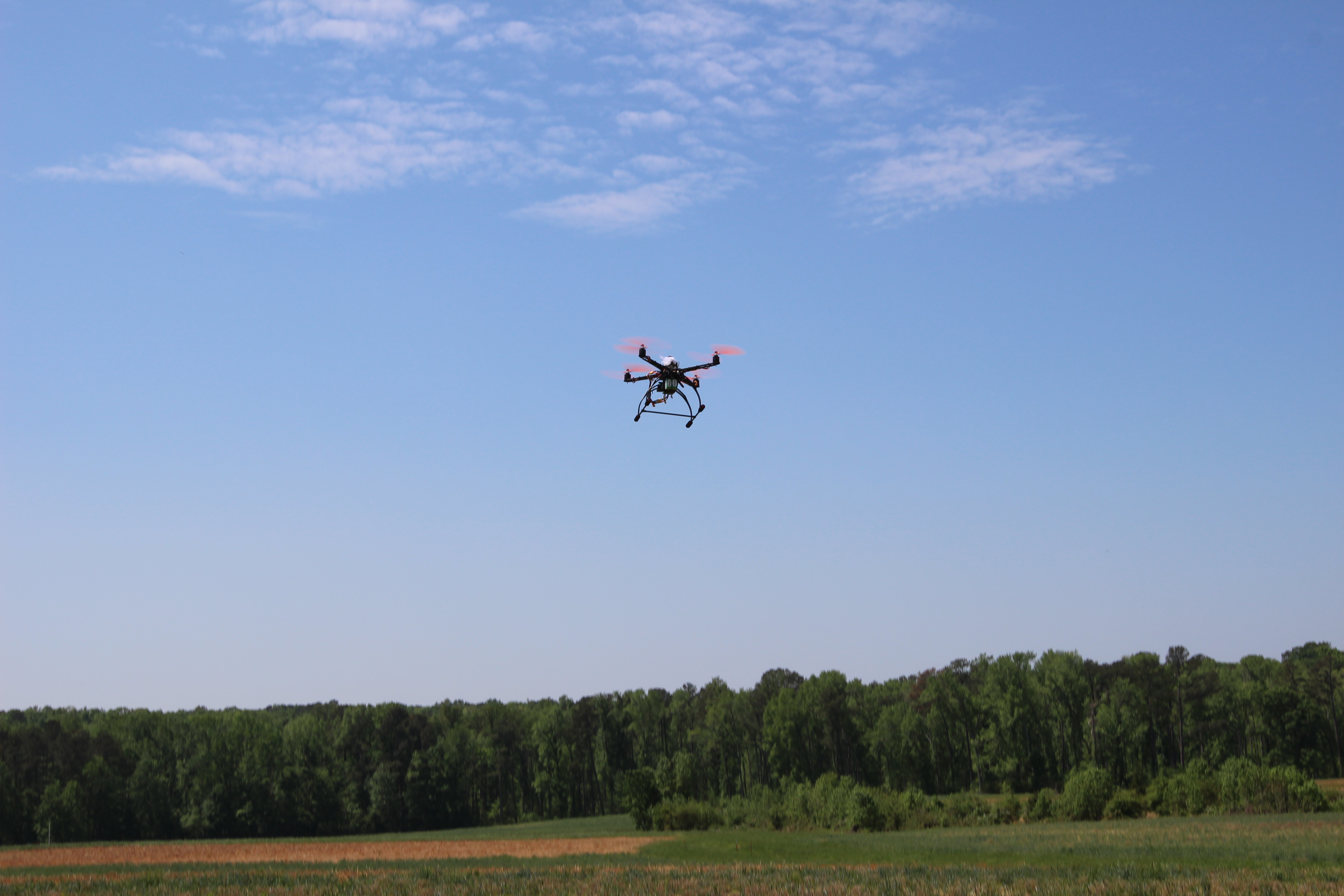 NCSU Student drone in flight