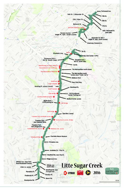 2016 Little Sugar Creek Greenway Map