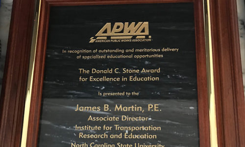 Award Plaque for the Donald C. Stone Award