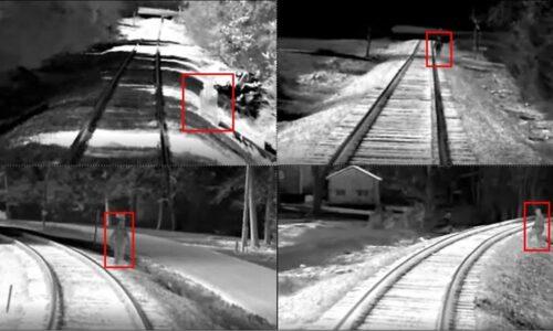 Infrared camera shots along the Raleigh to Charlotte rail corridor. Source: ncdot.gov.