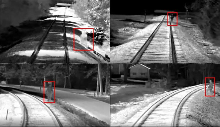 Infrared camera shots along the Raleigh to Charlotte rail corridor. Source: ncdot.gov.
